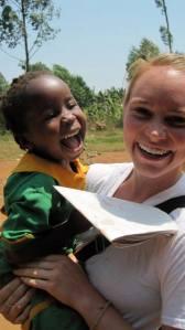 Playing with beautiful children in Uganda