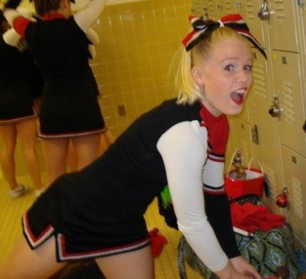 At least Sara was a cheerleader and I could live vicariously...